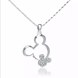 ‼️SALE‼️Silver Mickey Mouse Crystal Necklace